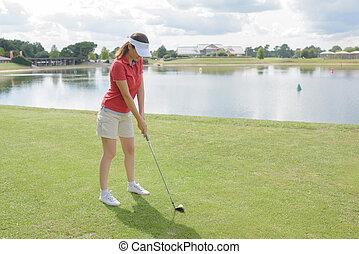 portrait of a golf club member