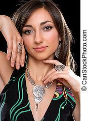 Portrait of a gorgeous young brunette