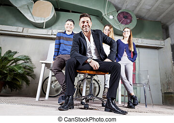 portrait of a group of young businesspeople