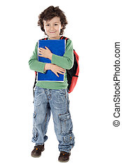 Portrait of a handsome boy - Adorable child student a over...