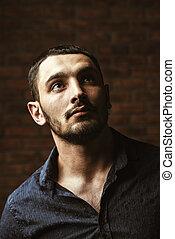 handsome brunet man - Portrait of a handsome brunet man...