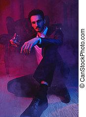 handsome brunet man - Portrait of a handsome brunet man ...