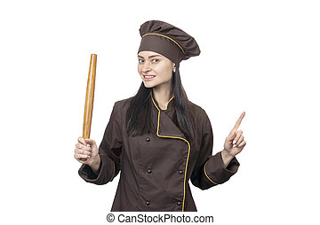 cook with a rolling pin