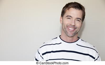 Portrait Of A Handsome Man Smiling