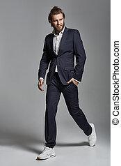Portrait of a handsome smiling confident businessman