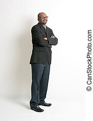 portrait of a happy Arab businessman, biracial businessman