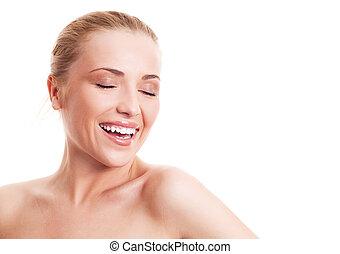 laughing woman