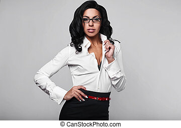 Portrait of a happy business woman