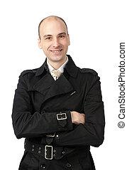 Portrait of a happy businessman smiling