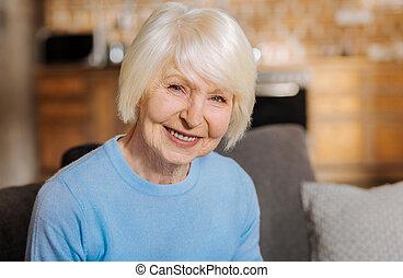Portrait of a happy elderly woman