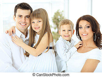 portrait of a happy family.