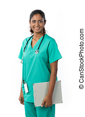 Portrait of a happy Female Indian Doctor