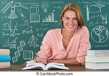 Portrait Of A Happy Female Student