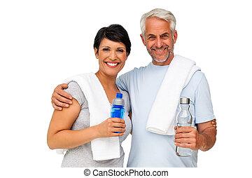 Portrait of a happy fit couple