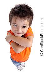 happy little boy standing