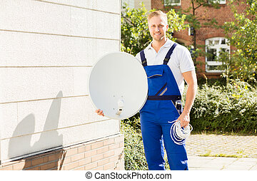 Portrait Of A Happy Male Technician