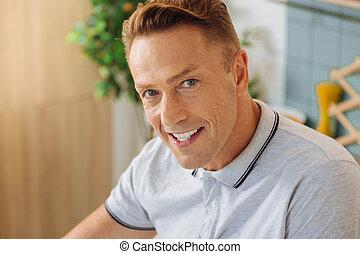 Portrait of a happy nice man