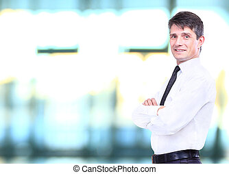 senior business man smiling