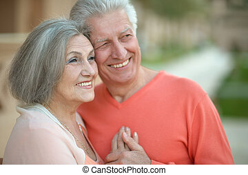 Portrait of a happy senior couple in rest