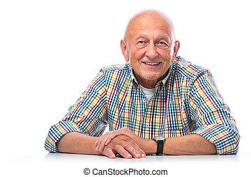 Portrait of a happy senior man smiling