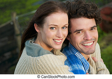 Portrait of a Happy Smiling Couple