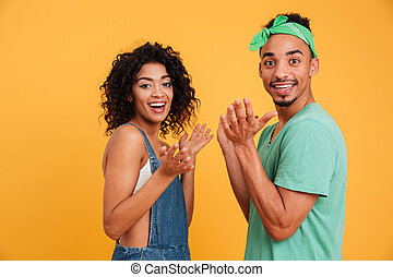 Portrait of a happy young african couple