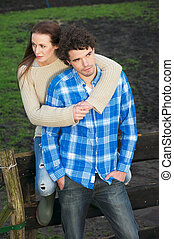 Portrait of a Healthy Couple Outdoors