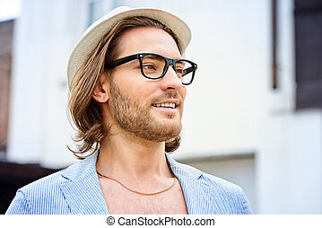 portrait of a hipster guy