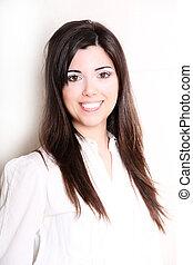 Portrait of a Hispanic young woman