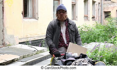 Portrait of a homeless
