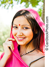 portrait of a Indian young girl