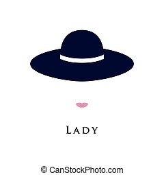 Portrait of a lady in a beautiful hat.