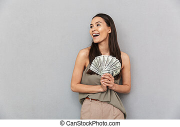 Portrait of a laughing asian woman