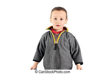 portrait of a little boy 3-4 year old