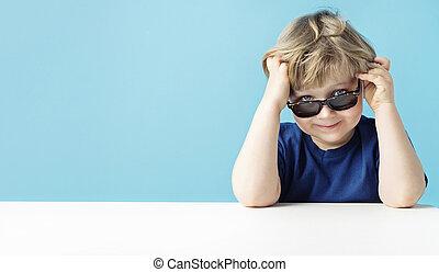 Portrait of a little cute man