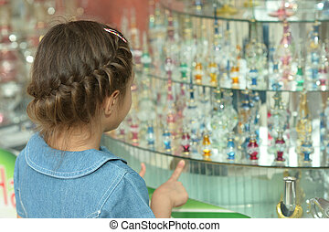 girl in a shop