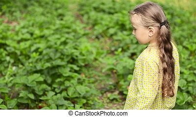 little girl on the nature