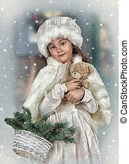 Portrait of a little girl vintage