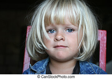 Portrait of a little girl with beautiful eyes