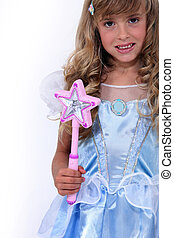portrait of a little girl with costume