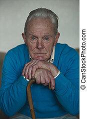 Portrait of a Lonely Senior Man