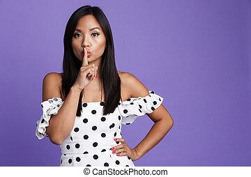 Portrait of a lovely asian woman in dress