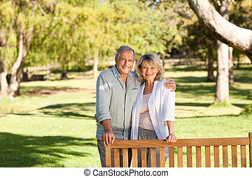Portrait of a lovely couple behind