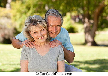 Portrait of a lovely senior couple