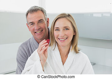 Portrait of a loving couple in the kitchen