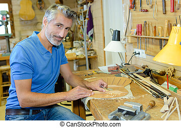 Portrait of a luthier