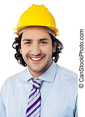 Portrait of a male construction worker