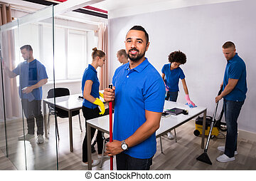 Portrait Of A Male Janitor