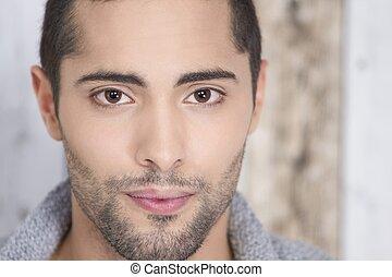 Portrait of a male model