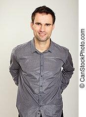 Portrait of a man at shirt